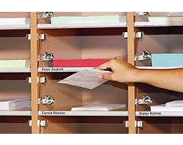 Fachtür für Posteinwurf - aus Acryl, BxH 270 x 95 mm - VE 26 Stk