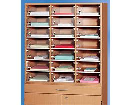 fm büromöbel Fachtür für Posteinwurf - aus Acryl, BxH 270 x 95 mm - VE 26 Stk