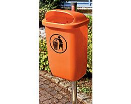 Abfallbehälter für öffentlichen Raum - in Orange oder Grün