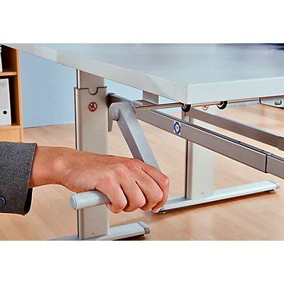 Hammerbacher UPLINER Stehschreibtisch, manuell höhenverstellbar - 725 – 1185 mm, BxT 1200 x 800 mm