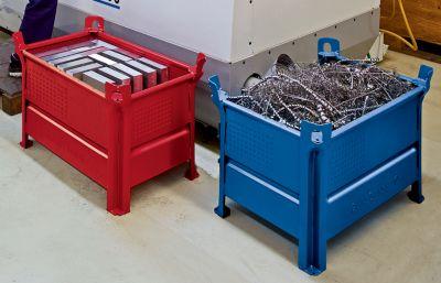 Heson Vollwand-Stapelbehälter, BxL 800 x 1000 mm - Füllhöhe 500 mm, Traglast 500 kg