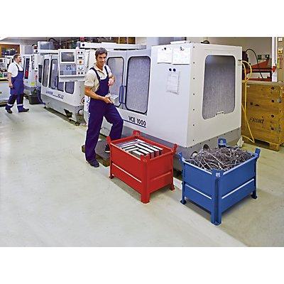 Heson Vollwand-Stapelbehälter, BxL 800 x 1000 mm - Füllhöhe 500 mm, Traglast 500 kg - ab 10 Stk