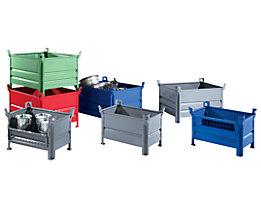 Heson Caisse-palette à parois pleines, l x L 800 x 1000 mm - hauteur utile 500 mm, force 500 kg