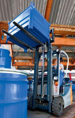 Heson Vollwand-Stapelbehälter, BxL 1000 x 1200 mm - Füllhöhe 500 mm, Traglast 2000 kg