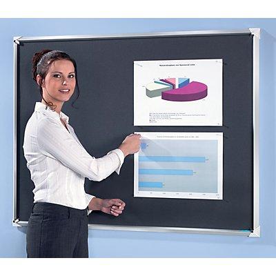 office akktiv Premium Pinnwand aus Stoff - Hoch-oder Querformat
