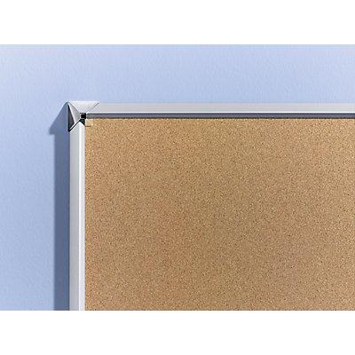 OFFICE AKKTIV Naturkork-Pinnwand - mit Aluminiumrahmen