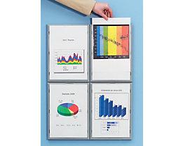 Info-Display - Rahmen aus Polystyrol, aluminiumfarben