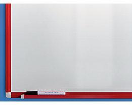 QUIPO Tableau blanc - cadre peint rouge feu RAL 3000
