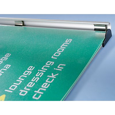 Türschild - Rahmen aus Aluminium-Profil