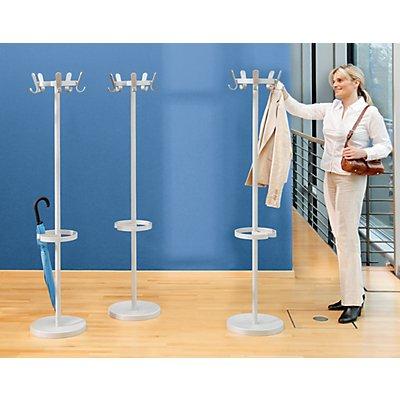 office akktiv garderobenst nder mit 5 haken h he 1680 mm 350 mm. Black Bedroom Furniture Sets. Home Design Ideas