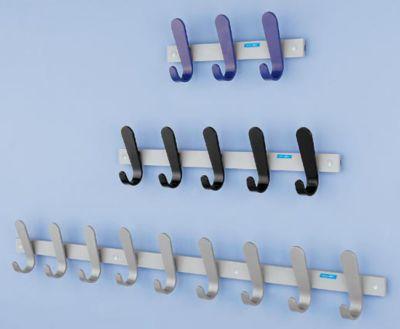 office akktiv Garderobenleiste - 1 Mantelhaken, HxBxT 130 x 120 x 60 mm, VE 2 Stück