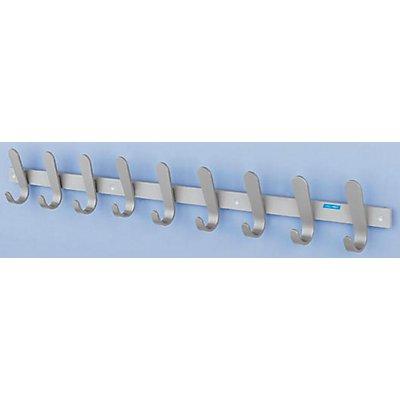office akktiv Garderobenleiste - 9 Mantelhaken, HxBxT 130 x 1080 x 60 mm, VE 1 Stück