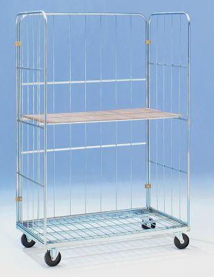 Transport- und Verkaufscontainer - 1 Etagenboden, Rad-Ø 100 mm