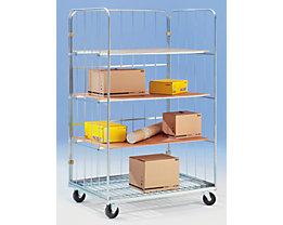 Transport- und Verkaufscontainer - 3 Etagenböden