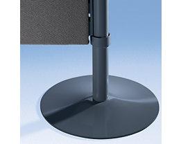 Pied plat pour cloisons et séparateurs de pièces permettant une mise en place stable de la cloison