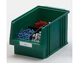 Etiketten für Sichtlagerkasten - weiß, VE 100 Stk - für Sichtlagerkastenbreite 150 – 315 mm