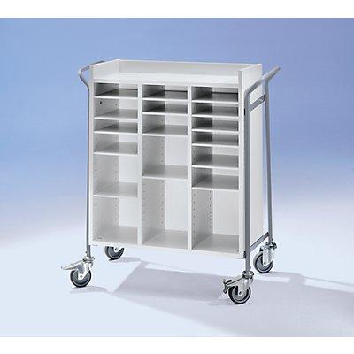 Bürowagen, für Post, Tragfähigkeit 150 kg