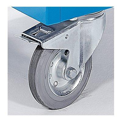 EUROKRAFT Schrankwagen KOMPAKT - Stahlblech 3-seitig, Türen mit Makrolon®-Scheiben - LxBxH 1150 x 750 x 1170 mm