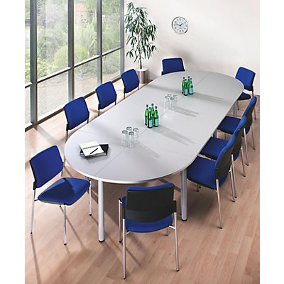 office akktiv Konferenztisch - Viertelkreisplatte