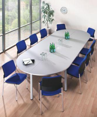office akktiv Konferenztisch - Viereckplatte - LxB 800 x 800 mm,