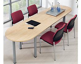 office akktiv Table de conférence - plateau en demi-cercle