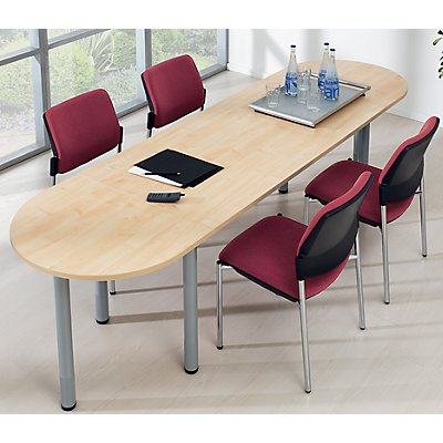 office akktiv Konferenztisch - Halbkreisplatte