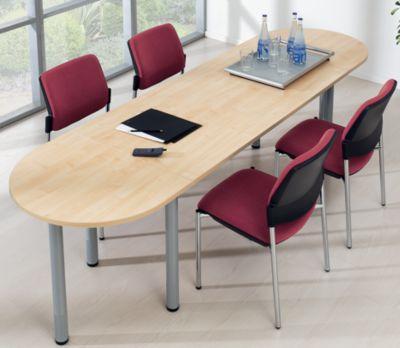 office akktiv Konferenztisch - Halbkreisplatte - Breite 800 mm,