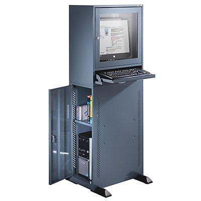 QUIPO Computerschrank - Standardausführung - blaugrau
