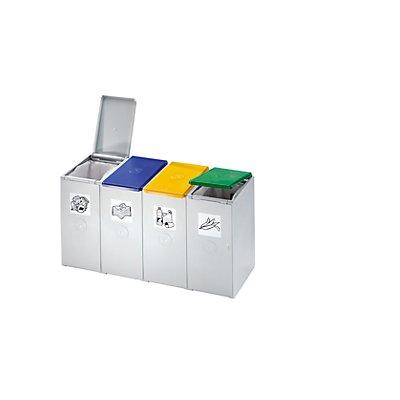 VAR Wertstoff-Trenn- und Sammelbehälter - als 4-fach Sammelstation