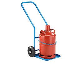 EUROKRAFT Stahl- / Gasflaschenkarre - für 1 Propangasflasche, Inhalt 27 / 40 l