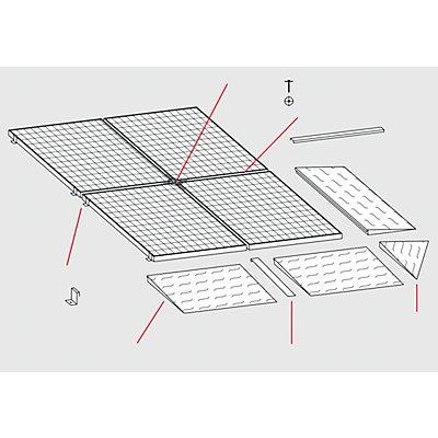 Auffahrecke für Stahl-Flachwanne - BxT 1150 x 1150 mm, verzinkt - Radlast max. 500 kg