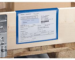 Beschriftungstaschen - für Holzaufsatzrahmen - Papierformat DIN A4, VE 100 Stk