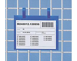 Dokumenten-Einstecktasche - mit Befestigungslaschen, VE 100 Stk