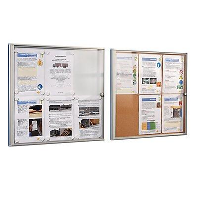office akktiv Infokasten für Innen - Korkrückwand