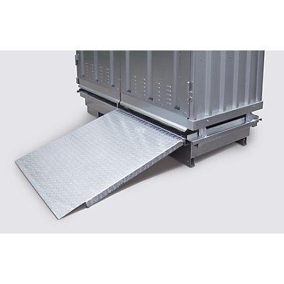 Auffahrrampe - verzinkt - LxB 1200 x 1000 mm
