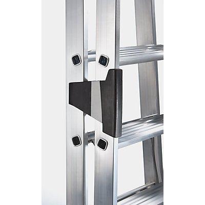 Günzburger Steigtechnik Stufen-Stehleiter, einseitig - Komfort-Ausführung mit ergo-pad®