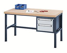 Werkbank mit MDF-Platte - 2 Schubladen, 1 x 150, 1 x 180 mm hoch