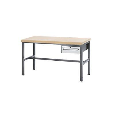 RAU Werkbank mit MDF-Platte - 1 Schublade, 150 mm hoch