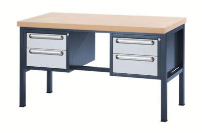 Werkbank mit MDF-Platte - 4 Schubladen, 2 x 150, 2 x 180 mm hoch
