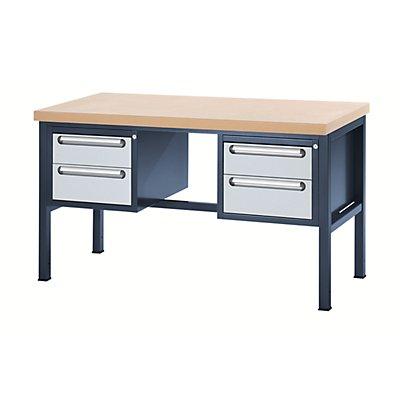 RAU Werkbank mit MDF-Platte - 4 Schubladen, 2 x 150, 2 x 180 mm hoch