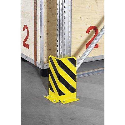 Anfahrschutz aus Stahl - Materialstärke 6 mm, schwarz / gelb
