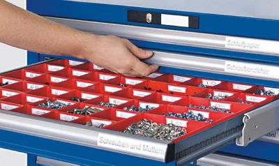 Lista Schubladenschrank, Stahlblech - HxB 1000 x 1023 mm, 7 Schubladen
