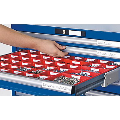 Lista Schubladenschrank, Stahlblech - HxB 1000 x 1431 mm, 7 Schubladen