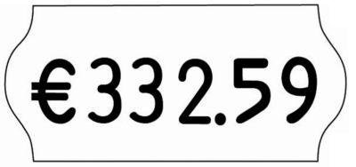 Etiketten für Preisauszeichner - BxH 26 x 12 mm, VE 18 Rollen à 1500 Stk - weiß