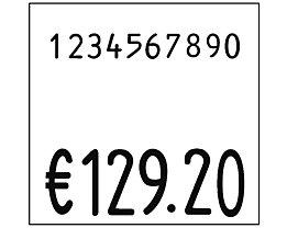 Etiketten für Preisauszeichner - BxH 29 x 28 mm, VE 24 Rollen à 700 Stk