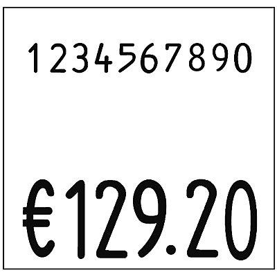 Etiketten für Preisauszeichner - BxH 29 x 28 mm, VE 24 Rollen à 700 Stk - weiß