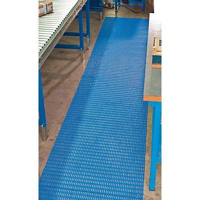 EHA Bodenmatte - mit Rechteck-Hohlprofilen - Breite 600 mm, blau, Preis pro lfd. m