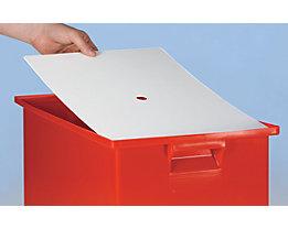 Staubdeckel für Stapeltransportkasten - LxB 210 x 150 mm - VE 10 Stk