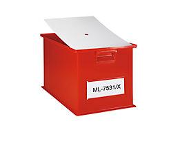 Staubdeckel für Stapeltransportkasten - LxB 310 x 210 mm - VE 10 Stk