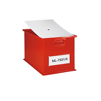 Staubdeckel für Stapeltransportkasten - LxB 650 x 470 mm - VE 10 Stk
